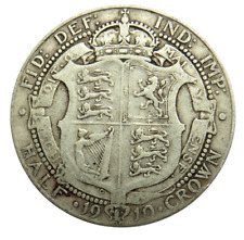 More details for 1910 king edward vii silver halfcrown coin great britain - ref ; sc1