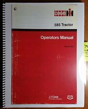 Case Ih 585 Tractor Owner's Operator's Manual Pub 9-11262 8/86