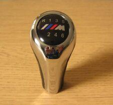 Pommeau de 6 Vitesses CUIR IMITATION Chrome BMW E46 E36 E39 E34 E30 X5 E87 M