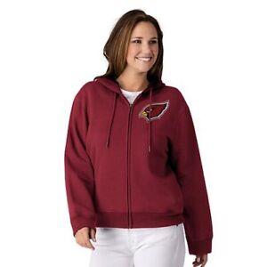 NFL Arizona Cardinals Officially Licensed Women's Full Zip Hoodie G-III Red