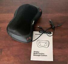 Arealer Back Massager Pillow w Heat,Shiatsu & Deep Tissue Kneading w car adapter