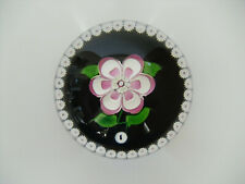 """Ltd Ed Caithness """"Whitefriars Rosette"""" Paperweight Monk Cane(79/500) - 2 3/4"""""""
