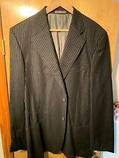 Zanella Mens Black Striped Blazer / Jacket Size L Large