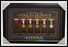 Australian Medals of Honour L/E Print Framed - Medals of the First World War