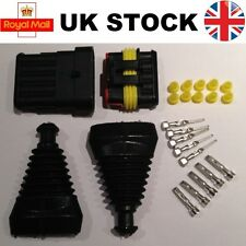 6 PIN vie Superseal TYCO AMP KIT Connettore Impermeabile Elettrici e Gomma Boot