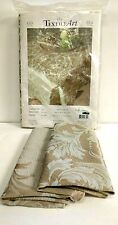 New TEXTILE ART Tablecloth DAMASK NATURE GOLD 63 x 94.5 + 2 Napkins Fall Holiday