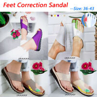 Womens Comfy Platform Sandal Shoes - PU LEATHER - Bunion Corrector