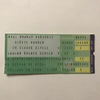 Stevie Wonder Lawlor Events Center Reno NV Concert Ticket Stub Vintage June 1986