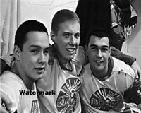 1966 Bobby Clarke &  Reggie Leach Flin Flon Bombers Junior Hockey 8 X 10 Photo