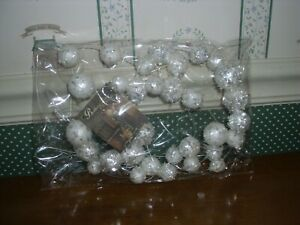 BETHANY LOWE-SNOW DROP GARLAND-6'-NEW IN PACKAGE