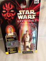 Star Wars Episode 1 Obi-Wan Kenobi with Comm Talk chip new on card