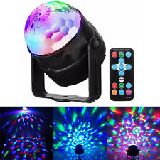 Sound Active RGB LED Stage Light Crystal Ball Disco Xmas Club DJ Party + Remote