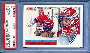 1991 SCORE CANADIAN HOCKEY PATRICK ROY # 314 montreal canadiens pop 5 PSA 10