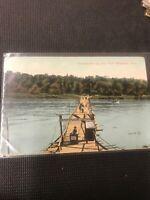 Postcard Pontoon Bridge Elm Park Winnipeg Manitoba Admission Stand Dancing   C01