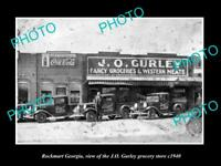 OLD LARGE HISTORIC PHOTO OF ROCKMART GEORGIA, VIEW OF THE JO GURLEY STORE c1940