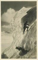 1930s Austria Mountain Climbing RPPC real photo postcard 5913