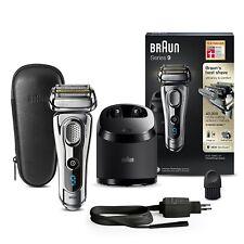 Braun Series 9 9296cc Elektrischer Rasierer + Reinigungsstation + Leder Chrom