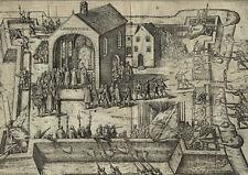 DONSBRÜGGEN (Kleve) - Zerstörung Kloster Gnadenthal - Kupferstich um 1600