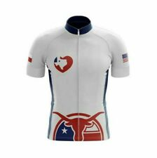 Texas Blue Short Sleeve Cycling Jersey Free Shipping