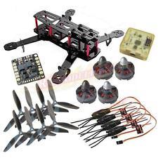 QAV250 Carbon Quadcopter +CC3D FC MT2204Ⅱ 2300KV Motor Simonk 12A ESC 6045 Props