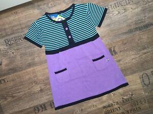 Topolino Kinder Baby Mädchen Strickkleid Kleid kurzarm Gr. 92 Taschen lila NEU