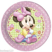 Baby Minnie Mouse Birthday Party Supplies Decorations Girl Tableware Pink 1st