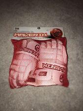 Maverik White Lacrosse Gloves 12�