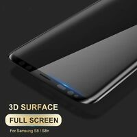 BLACK Full Curved 3D Tempered Glass Screen Protector Film Samsung Galaxy S8