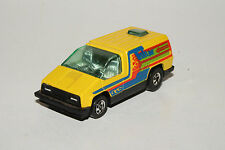 HOT WHEELS BLACKWALL INSIDE STORY CONCEPT VAN, YELLOW, HONG KONG, NICE, ORIGINAL