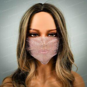 Bling Bling Luxury Face Mask Accessory Wedding Rhinestones Face Masks USA Seller