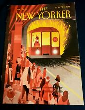"""2017 August 7 & 14 The New Yorker Magazine,Cover """"Hell Train"""" by Bob Staake"""