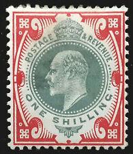 Great Britain Stamp 1902-11 1s King Edward VII Scott # 138 MINT OG H