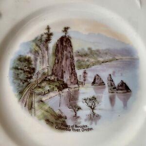 Original PILLARS OF HERCULES Collectible Souvenir Plate COLUMBIA RIVER Oregon