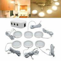 NEU 6x LED Kabinett Licht Kit Küchenregal Beleuchtung Schrankleuchte Kaltes Weiß