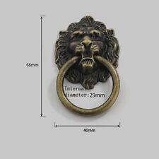6pcs Alloy Lion Head Knob Pull Handle Door Hardware Dresser Drawer Cabinet