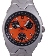 Sector Men's R3253985045 Casual Chronograph Orange Dial Watch