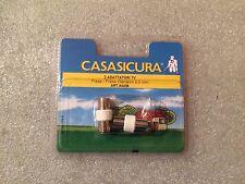 2 adattatori TV Presa/Presa Diametro 9,5 mm Cassasicura OVA Art. 84436