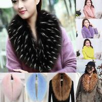 Women Winter Faux Fur Collar Scarf Stole Cape Muffler Wrap Shawl Neck Warmer