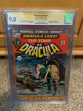Tomb of Dracula #1 CGC 9.0 1972 signed by Neal Adams 1st app. Dracula hot book
