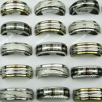 Mix style 15pcs Wholesale Jewelry Lots Stainless steel Double-layer Mens Rings