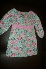 3T Kidz Closet Designs mulitcolor dress pink gingham EUC BLue green