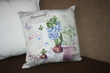 BLUE ''hyacinth'' Shabby Chic Vintage Retro Style cushion