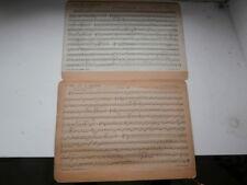 Partition Ancienne 1900 L'OR et l'ARGENT alto MI & Saxophone SALABERT