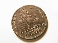 1874 Belgium 1 Cent Ch VF+/aEF Original Toned Belges King Leopold One Cent Coin