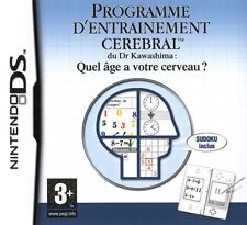 8940 // ENTRAINEMENT CEREBRAL QUEL AGE A VOTRE CERVEAU DS