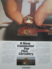 7/1979 PUB HUGHES AIRCRAFT FLEX CIRCUITRY GOLD DOT SYSTEM CONNECTOR ORIGINAL AD