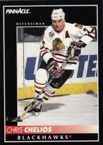 #109 Chris Chelios - Chicago Blackhawks - 1992-93 Pinnacle Canadian Hockey