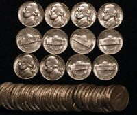 1960 D Jefferson Nickels  BU UNCIRCULATED roll  of 40 coins OBW