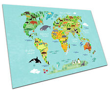 ANIMAL WORLD MAP WALL ART LARGE A1 POSTER 33 X 23 INCH