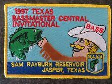 Rare Vintage Bassmaster Tournament Patch 1997 Texas Central Invitational